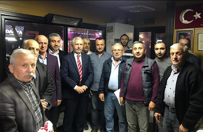 Ankara'da Il Müftümüz Sönmezoğlu, Taksi Durağını Ziyaret Etti