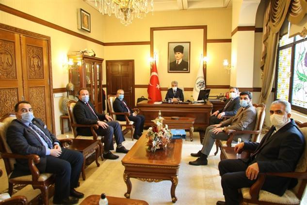 Erzincan'da Il Müftümüz Ve Ilçe Müftülerimizden Valimiz Mehmet Makas'a Ziyaret