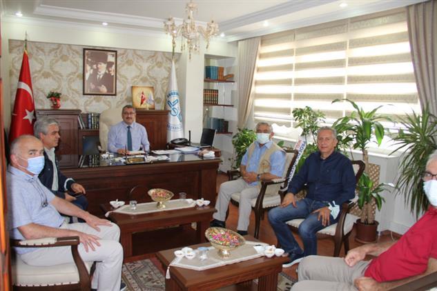 Muğla'da Il Müftümüz Yaşar çapçı'ya üniversiteden Ziyaret