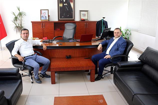 Mersin'de Il Müftümüz Yenişehir Kaymakamını Ziyaret Etti