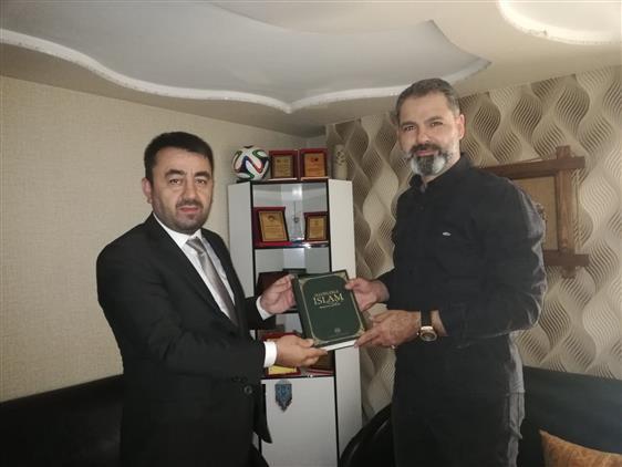 Amasya'da Il Müftümüz'den Iş Adamı Burak çifçioğlu'na Ziyaret