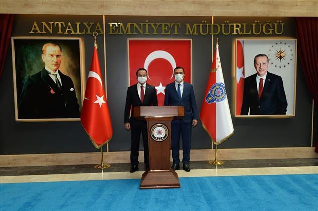 Antalya'da Il Müftümüzden Il Emniyet Müdürlüğüne Ziyaret