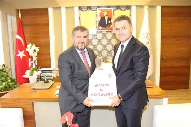Antalya'da Il Müftümüzden Milli Eğitim Müdürlüğü'ne öğretmenler Günü Ziyareti