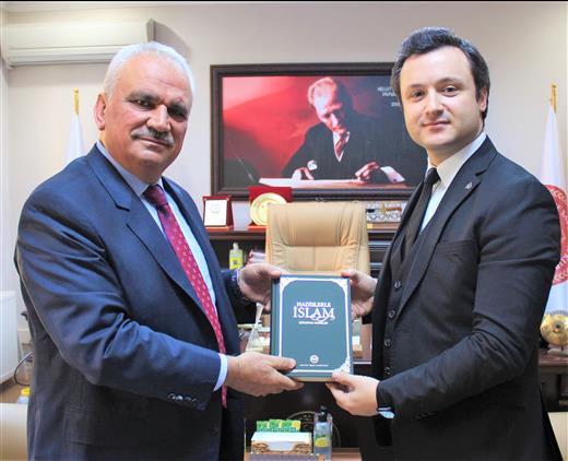 Bilecik'de Il Müftüsü Ali Erhun'dan Bilecik Adli Yargı Ve Adalet Komisyon Başkanı Reha Asan'a Hayırlı Olsun Ziyareti.