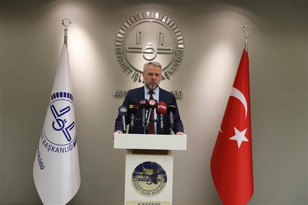 Kayseri'de Il Müftüsü Prof. Dr. şahin Güven'in Berat Kandili Mesajı