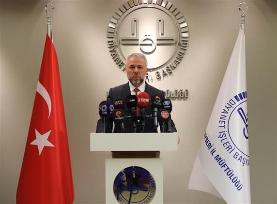 Kayseri'de Il Müftüsü Prof. Dr. şahin Güven'in Mevlid Kandili Mesajı