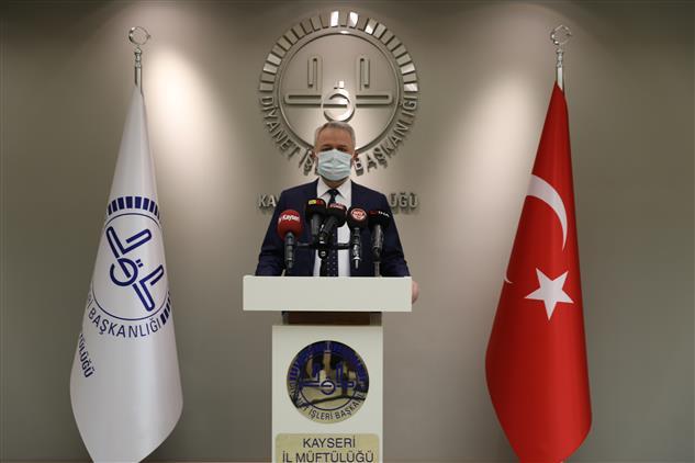 Kayseri'de Il Müftüsü Prof. Dr. şahin Güven'in Miraç Kandili Mesajı