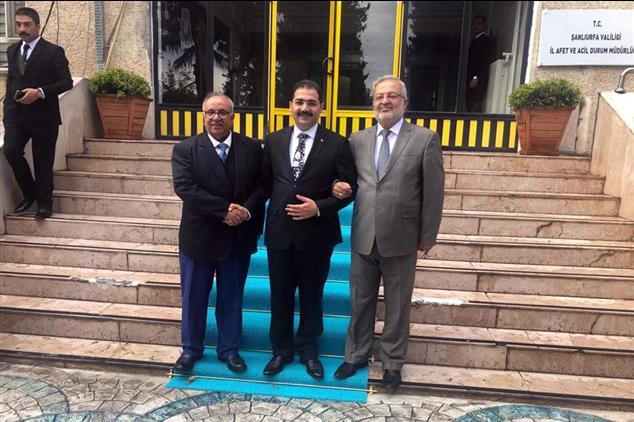 Şanlıurfa'da Il Müftüsü Taştan' Dan Başkan Canpolat' A Ziyaret