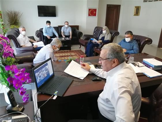 Kahramanmaras'da Ilçe Müftüleri Ile Video Konferans Toplantısı Gerçekleştirildi