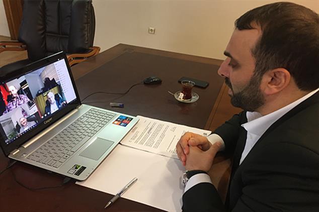 Rize'de Ilçe Müftüleri Toplantısı Telekonferans Sistemiyle Yapıldı