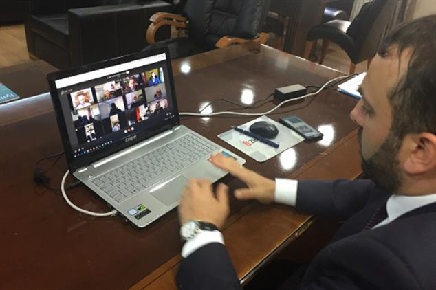 Rize'de Ilçe Müftüleri Toplantısı Video Konferans Yöntemiyle Yapıldı
