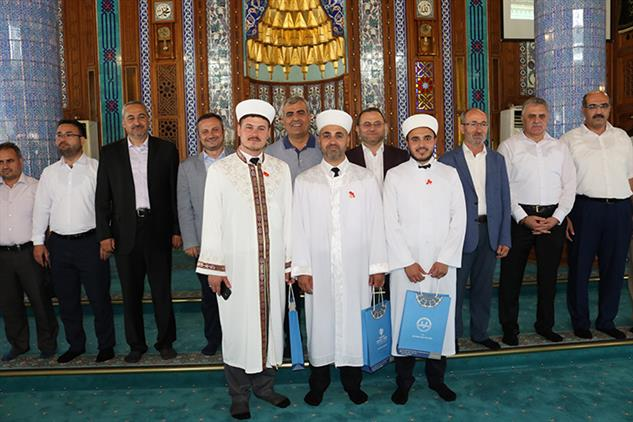 Mersin'de Ilimiz Akdeniz Ulu Cami'de V. Etkili Hutbe Sunumu Türkiye Finali Yarışması Yapıldı