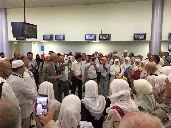 Samsun'da Ilk Hacı Kafilesi Dualarla Uğurlandı.