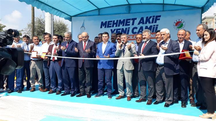 Antalya'da Mehmet Akif Ersoy Caminin Açılışı Dualarla Yapıldı