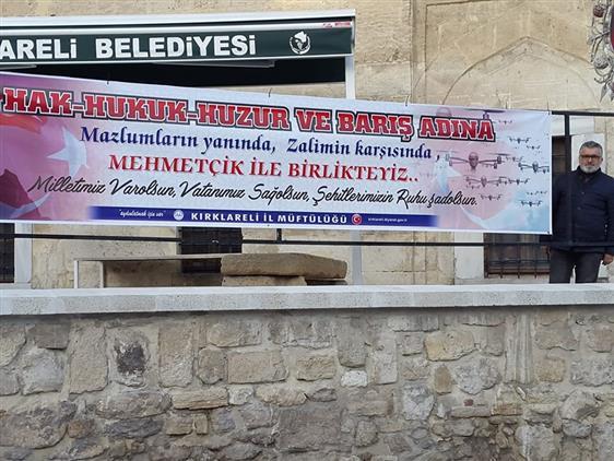 Kirklareli'de Mehmetçiğin Yanındayız