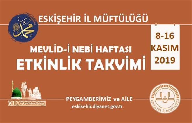 Eskisehir'de Mevlid-i Nebi Haftası Etkinlik Takvimi