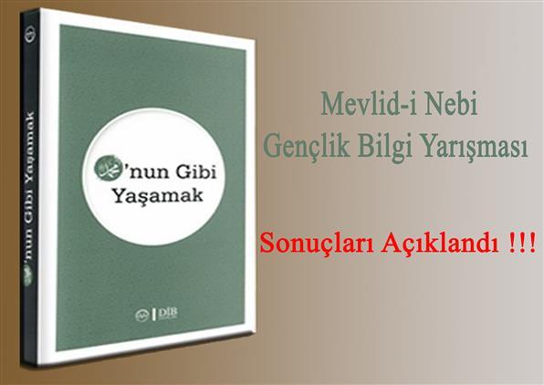 Sinop'ta Mevlid-i Nebi Bilgi Yarışması Sonuçları