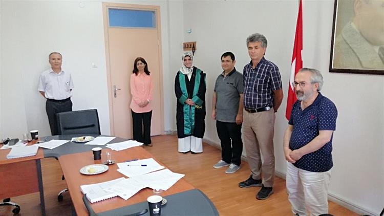 Osmaniye'de Müftülüğümüz Murakıbı Kübra Kamer Ekici Doktor Oldu