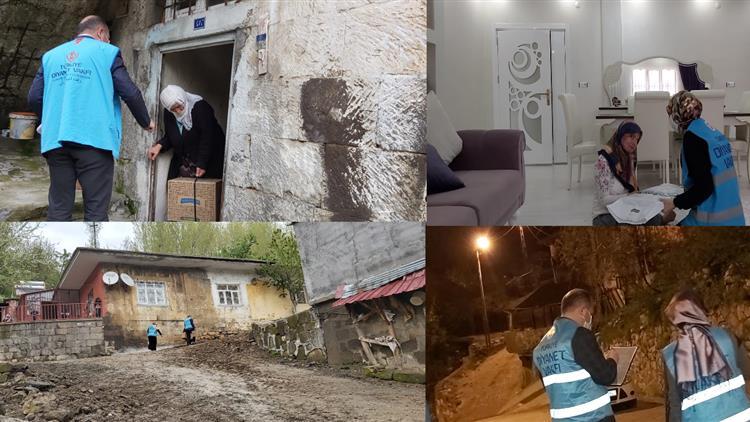 Bitlis'de Müftülüğümüzden Yardım Seferberliği