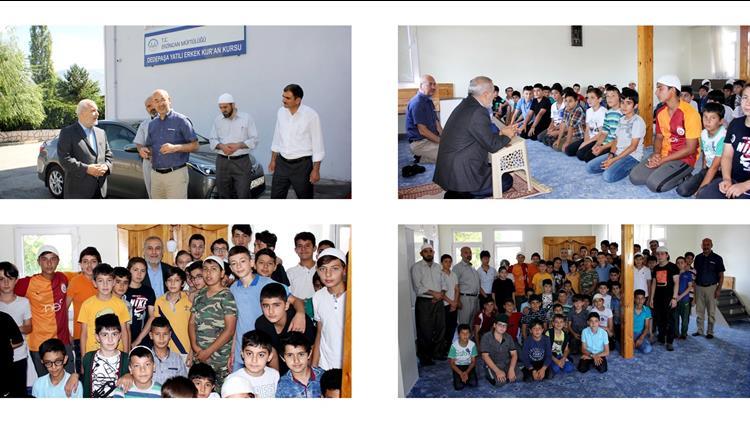Erzincan'da Müftümüz çetin, Dedepaşa Kur'an Kursunu Ziyaret Etti