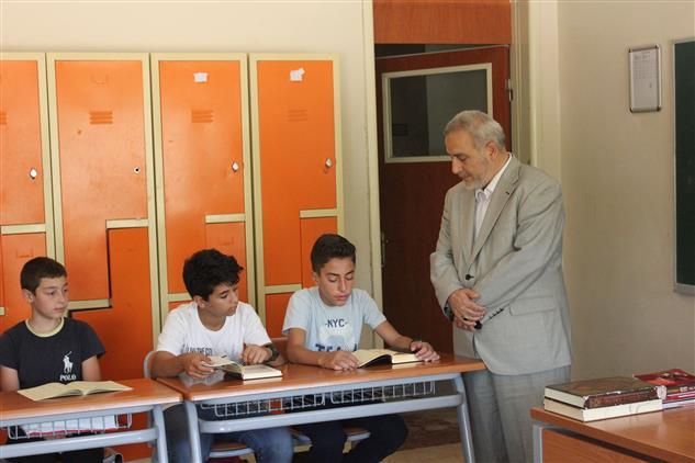 Erzincan'da Müftümüz Recep Demir Erkek Kur'an Kursunu Ziyaret Etti