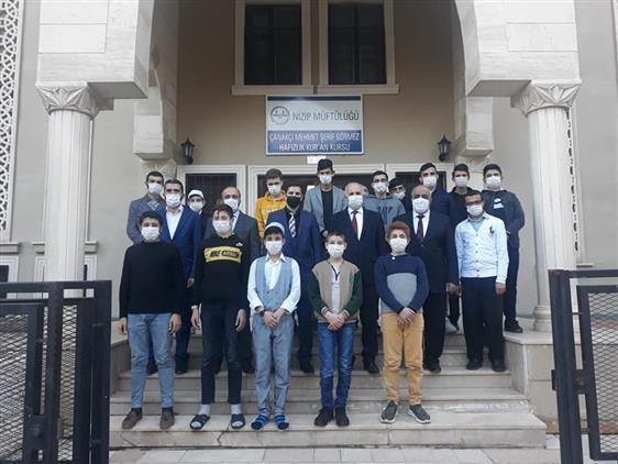 Gaziantep'de Müftümüzden Kur'an Kurslarına Ziyaret