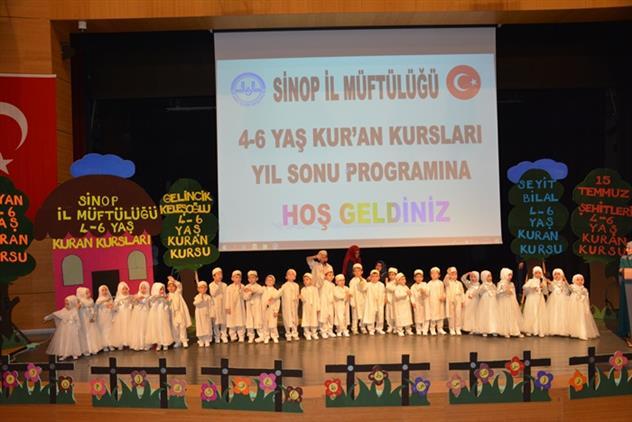 Sinop'ta Minik Kur'an Bülbüllerinden, Yıl Sonu Prorgramı