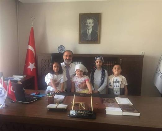 Tunceli'de Minikler Il Müftüsünü Ziyaret Etti