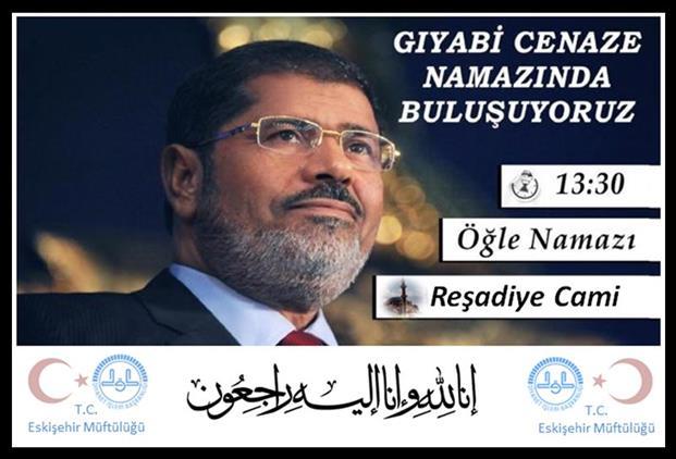 Eskisehir'de Mursi Için Reşadiye Camiinde Gıyabı Cenaze Namazı