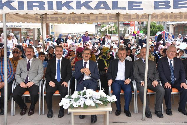 Kirikkale'de Nur Camii Avlusunda 4-6 Yaş Kur'an Kursları Yıl Sonu Etkinliği Düzenlendi.