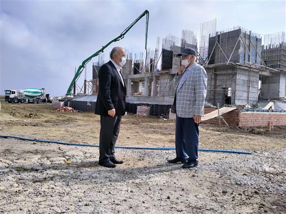 Tekirdağ'da üniversite Camii Inşaatında Inceleme