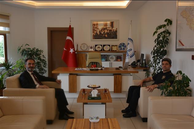 Yozgat'de Pomem Müdürü Kişi'den Il Müftüsü Ali Gülden'e Hayırlı Olsun Ziyareti