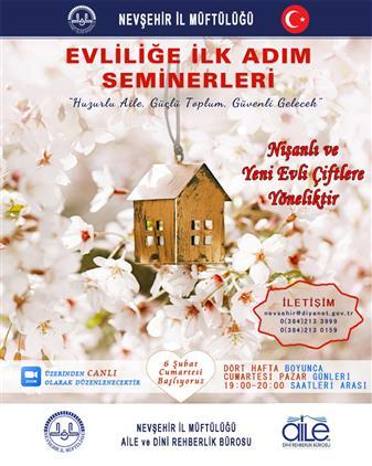 """Nevşehir'de """"evliliğe Ilk Adım Seminerleri"""" Başlıyor..."""