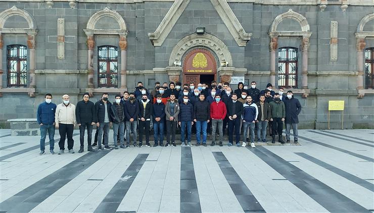 """Kars'ta """"gençler Sabah Namazında Buluşuyor"""" Etkinliği, Fethiye Caminde Gerçekleştirildi."""