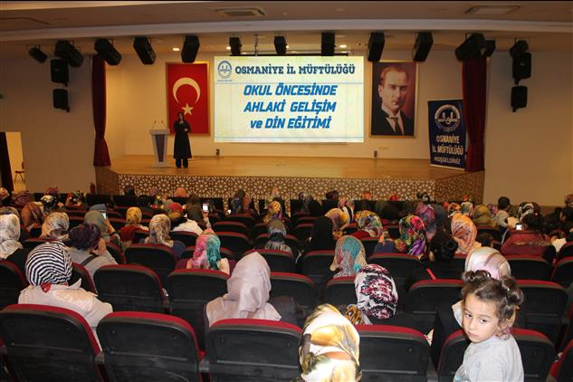 """Osmaniye'de """"okul öncesinde Ahlaki Gelişim Ve Din Eğitimi"""" Konulu Konferans Düzenlendi"""