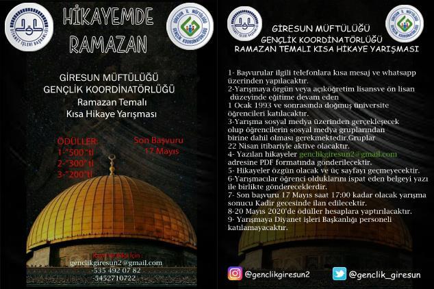 Giresun'da Ramazan Temalı Kısa Hikaye Yarışması
