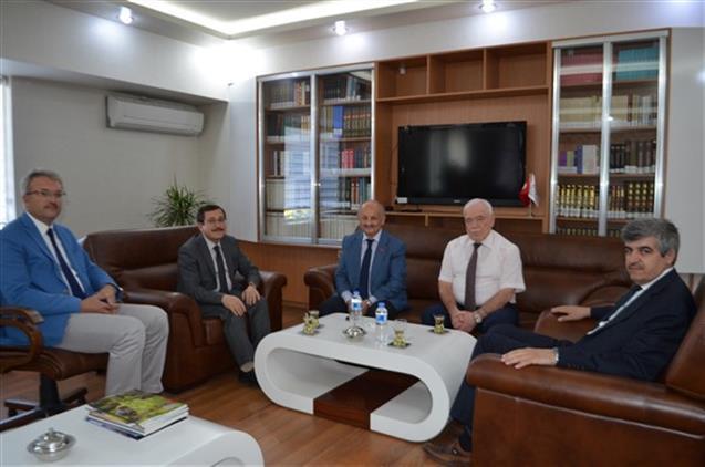 Malatya'da Rektör Prof. Dr. Ahmet Kızılay Il Müftümüzü Ziyaret Etti
