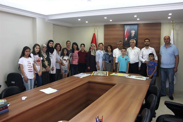 Mersin'de Resim Ve Kompozisyon Yarışması Finali Ilimiz Müftülüğünde Yapıldı