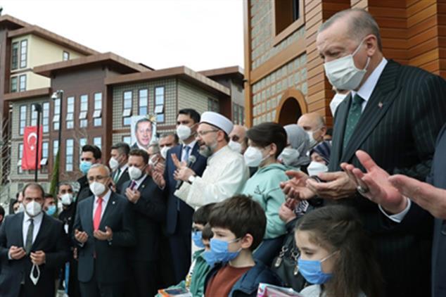 Rize'de Rteü Ahmet Erdoğan Camii Dualarla Ibadete Açıldı