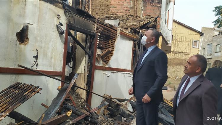 Afyonkarahisar'da Sandıklı Ilçesinde Aile Ve Dini Rehberlik Bürosu Yangın Nedeniyle Büyük Hasar Gördü