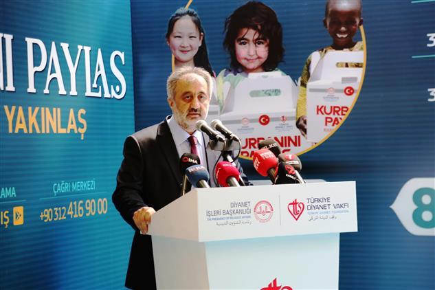 """Istanbul Müftülüğü Ve Türkiye Diyanet Vakfı Istanbul şubesi 2020 Yılı """"kurbanını Paylaş, Kardeşinle Yakınlaş"""" Temalı Vekaletle Kurban Programı Basın Toplantısı"""