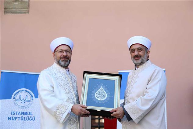 Istanbul Müftüsü Prof. Dr. Maşalı Törenle Göreve Başladı