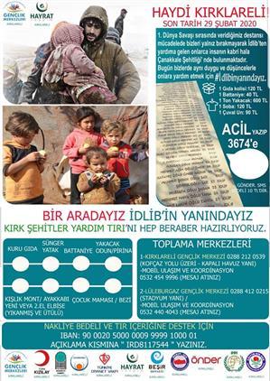 Kirklareli'de Stk'lardan Iyilikte Yardımlaşma Kampanyası