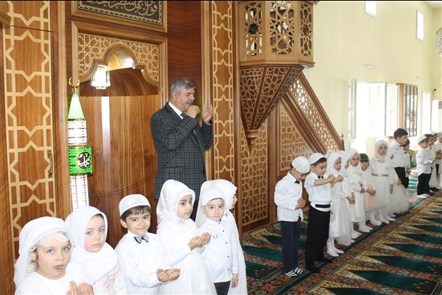 Hatay'da Takva 4-6 Yaş Kur'an Kursu'nda Amin Alayı Etkinliği Düzenlendi