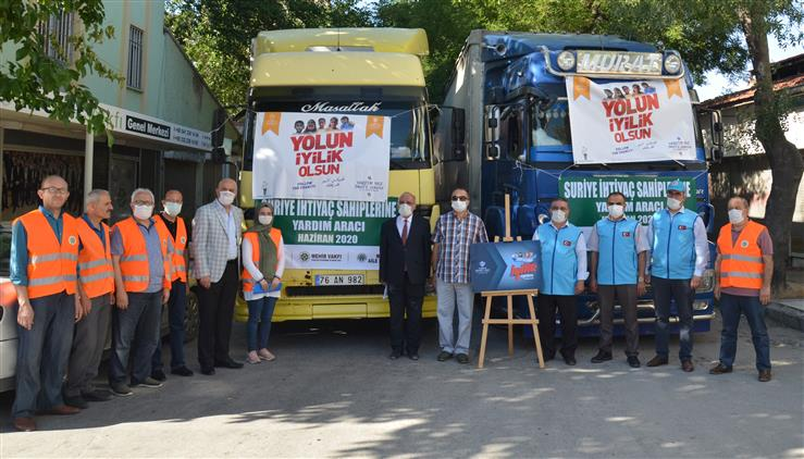 Türkiye Diyanet Vakfı Konya şubesi Ve Mehir Vakfından Suriye'ye Giyim Yardımı