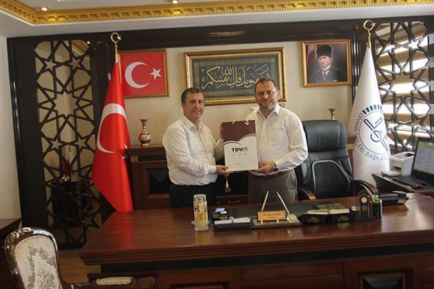 Mersin'de Türkiye Diyanet Vakfı Matbaa Ve Medya Müdürü Il Müftümüzü Ziyaret Etti