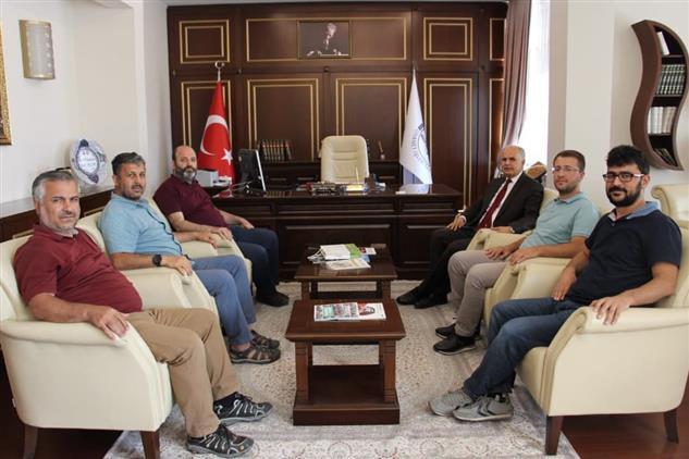 Gaziantep'de Türkiye Diyanet Vakfı Mütevelli Heyeti 2. Başkanı Müftülüğümüzü Ziyaret Etti