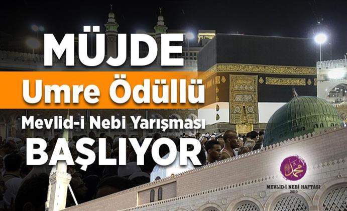 Nevşehir'de Umre ödüllü Mevlid-i Nebi Yarışması Başlıyor