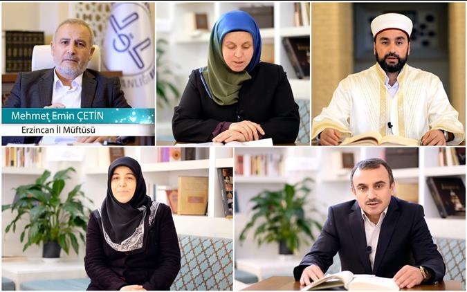 Erzincan'da Vaaz, Irşat, Manevi Danışmanlık Ve Dini Rehberlik Hizmetleri Sosyal Medya Platformları Aracılığıyla Gerçekleştiriliyor