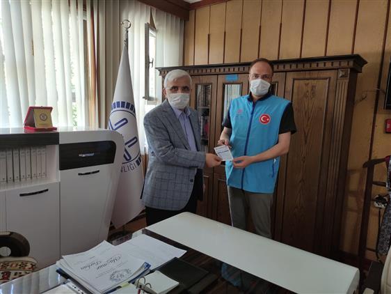 """Siirt'te """"vekâletle Kurban Bağışı Programına"""" Ilk Bağış Müftü'den Geldi"""